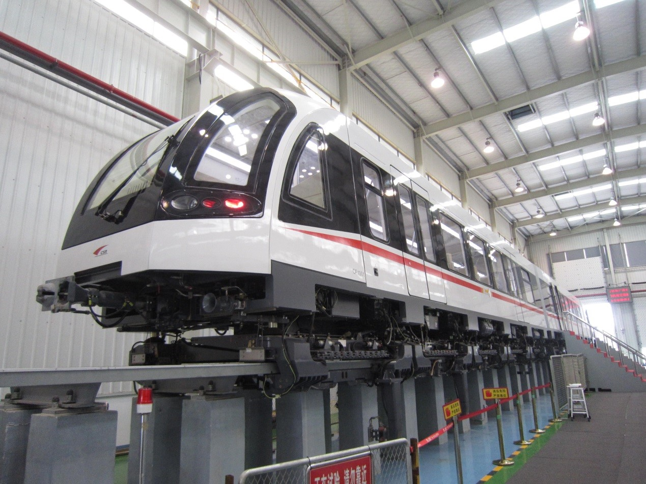 Case image: Low-speed maglev trial shipment of CSR Zhuzhou Electric Locomotive Co., Ltd